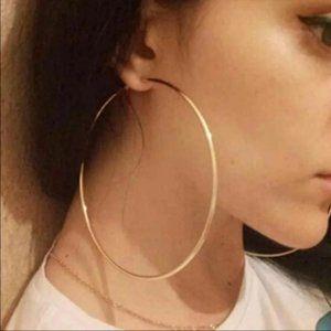*18k gold plated big hoop women's earrings